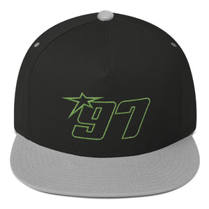 97 Green Thread Flat Bill Hat