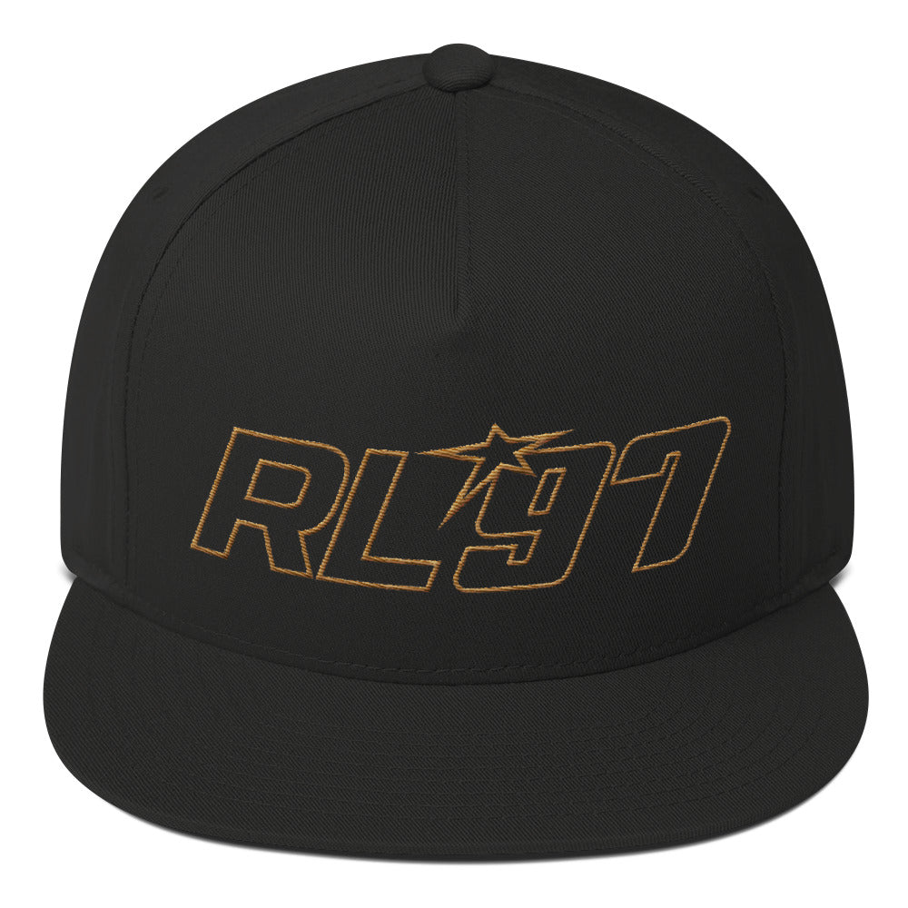 RL97 Old Gold Thread Flat Bill Hat