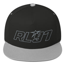 RL97 Grey Thread Flat Bill Hat