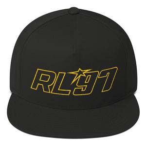 RL97 Yellow Thread Flat Bill Hat