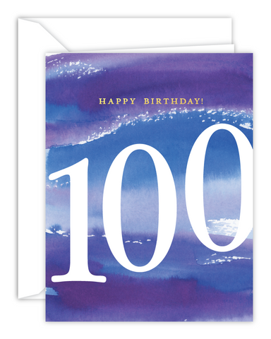 100th Birthday Watercolor Card