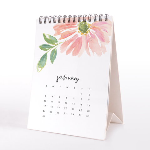2021 Watercolor Desk Calendar