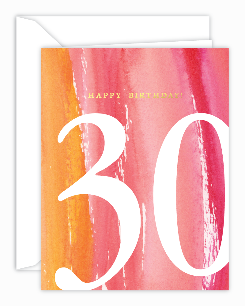 30th Birthday Watercolor Card