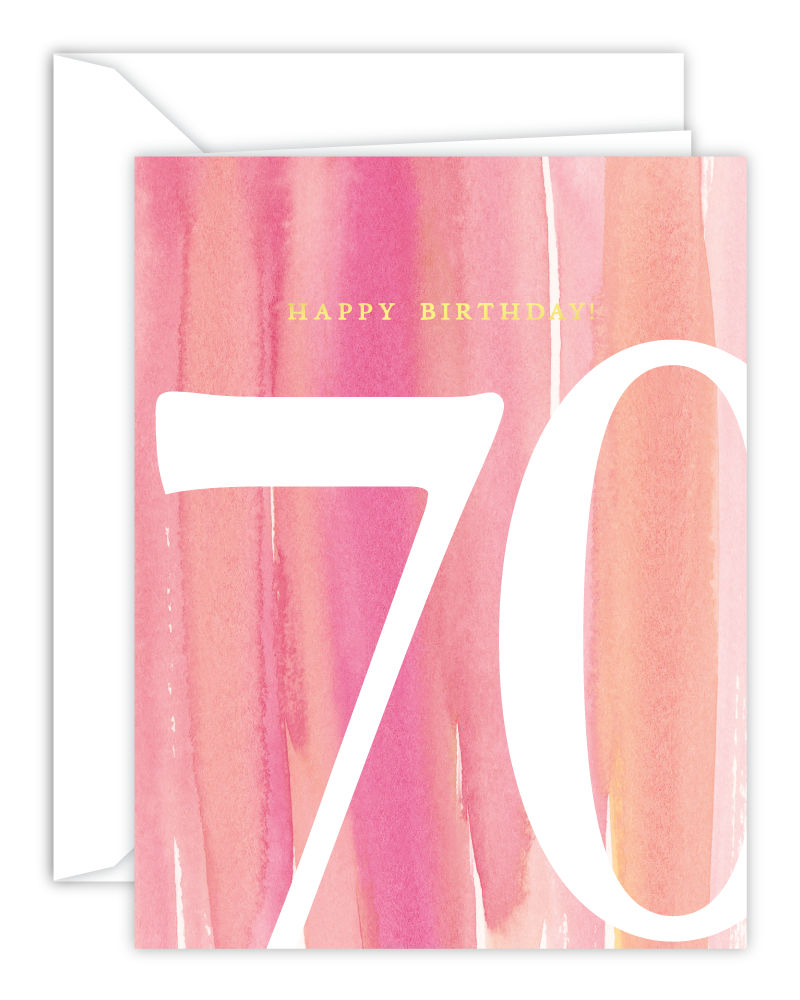 70th Birthday Watercolor Card