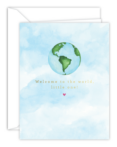 Welcome To The World, Little One! Watercolor Card