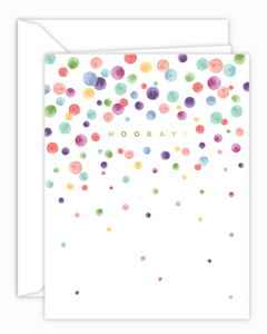 Hooray! Rainbow Confetti Card