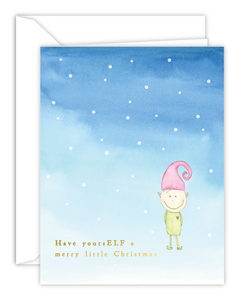 Have YoursELF... Elf Watercolor Christmas Card