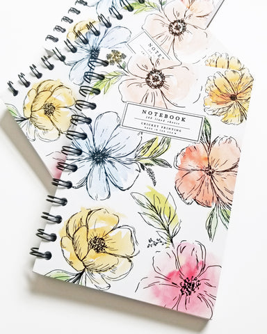 Floral Watercolor Notebook