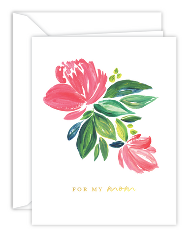 For My Mom Floral Watercolor Card