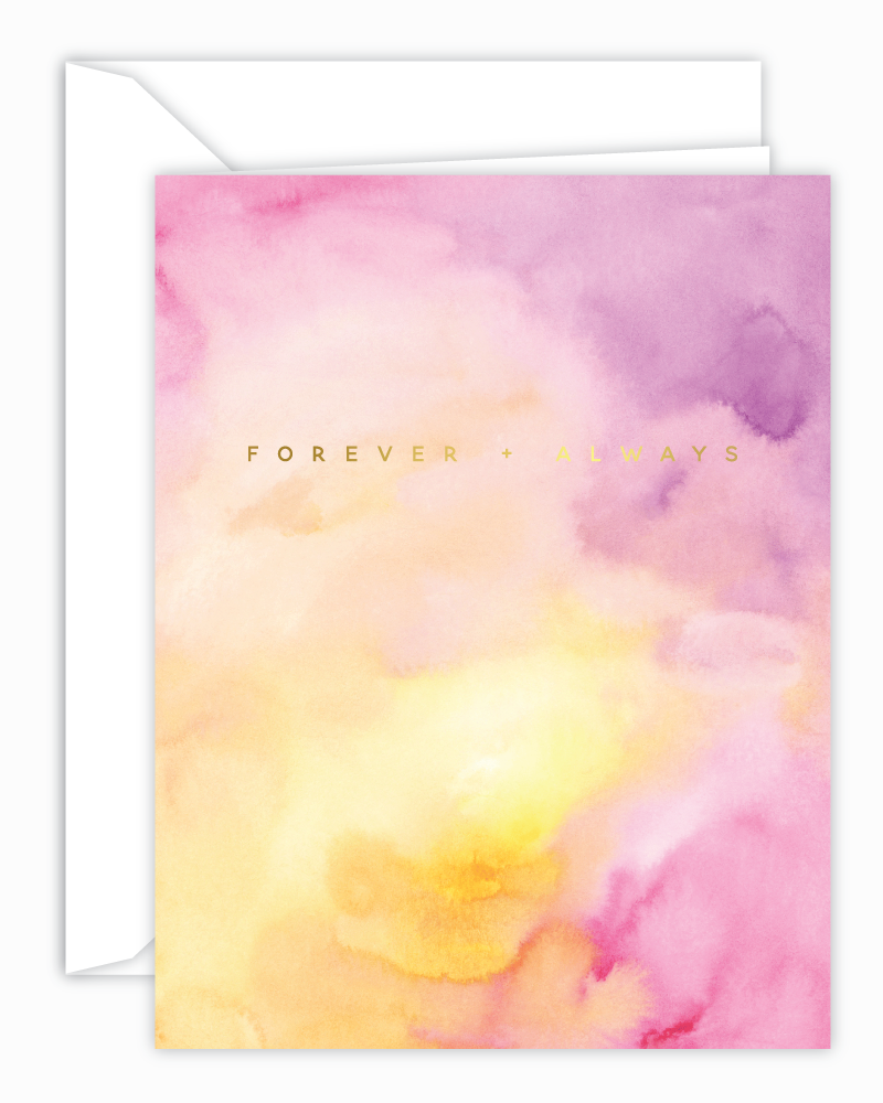 Forever + Always Watercolor Card