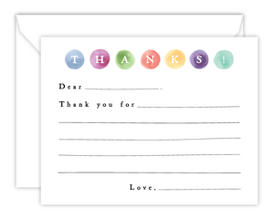 Kid*Notes (Dots) - Watercolor Flat Note Cards for Children