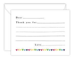 Kid*Notes (Hearts) - Watercolor Flat Note Cards for Children