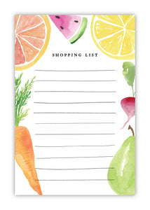 Fruit + Veggie Shopping List Notepad