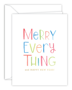 Merry Everything Watercolor Christmas Card