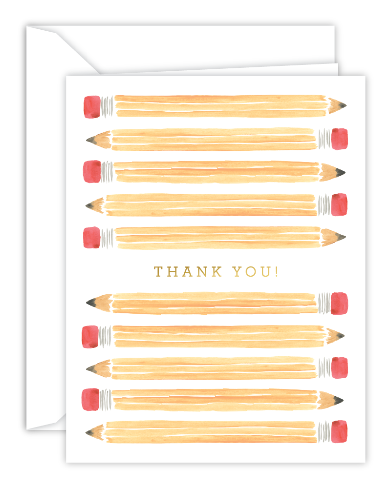 Thank You Watercolor Pencils Card