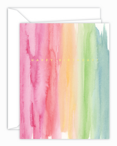 Happy Birthday! Rainbow Wash Card
