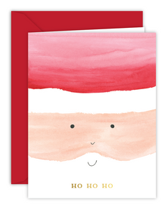 Ho Ho Ho Santa Watercolor Christmas Card