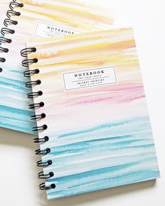 Sunset Watercolor Wash Notebook