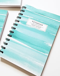 Teal Watercolor Wash Notebook