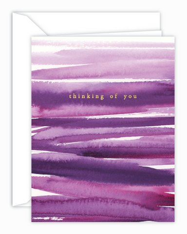 Thinking Of You Purple Watercolor Card