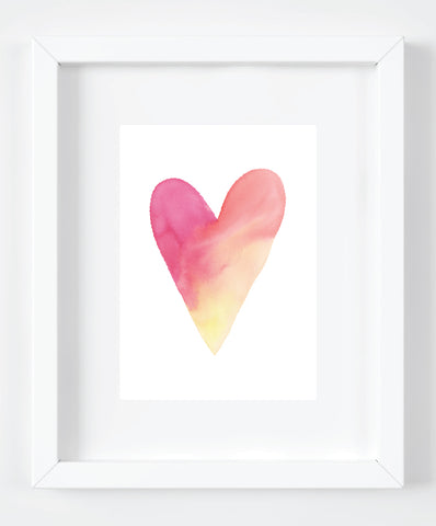 Watercolor Heart Art Print