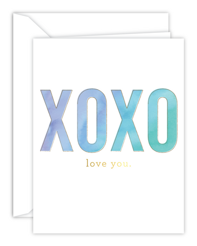 XOXO Love You Watercolor Card