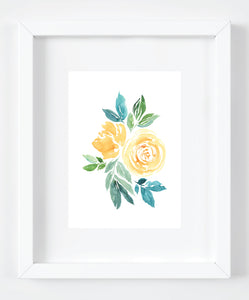 Yellow Floral Arrangement Art Print