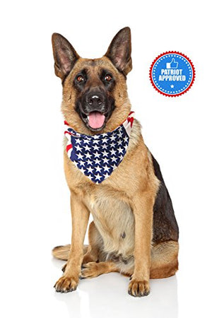 USA Dog Bandana Large American Flag