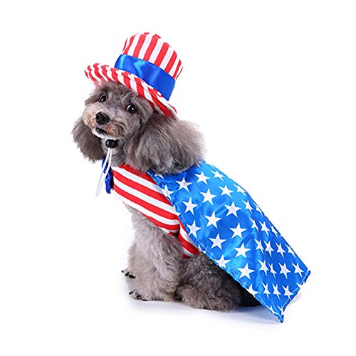Dog Costume Pet American Flag Harness