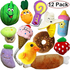 12 Pack Dog Squeaky Toys