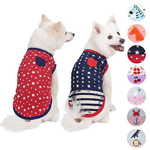 Pack of 2 Comfy Sea Lover Cotton Blend Dog T Shirts or Jumpsuit
