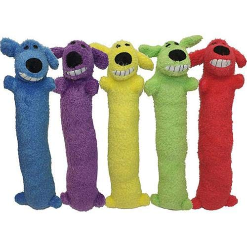 Loofa Dog Plush Dog Toy (Colors May Vary)
