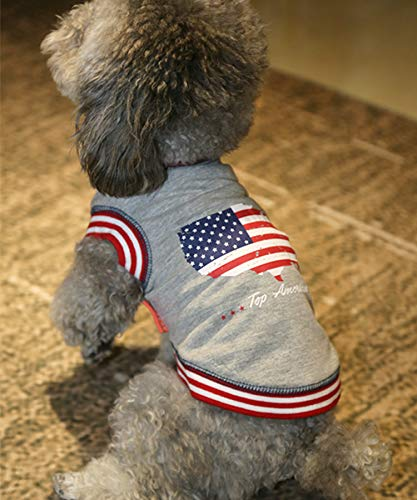 Dog Shirt American Flag Soft Dog T-Shirt