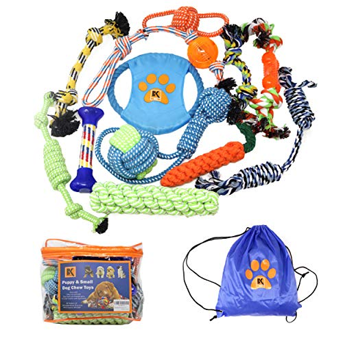 13 Puppy Dog Rope Toys - Chew Toy for Puppy Small and Medium Dogs