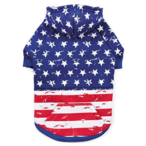Distressed American Flag Hoodie for Dogs