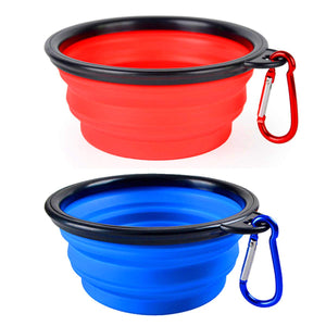 2 Pack Collapsible Dog Bowl