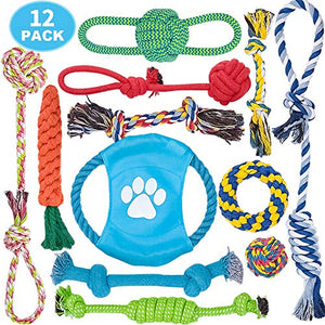 100% Natural Cotton Rope, Dog Toys Set
