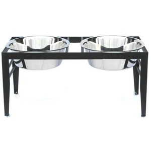 Chariot Double Elevated Dog Bowl