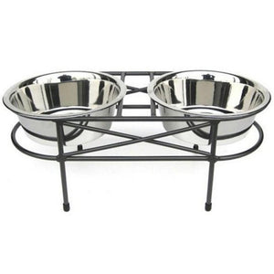 Mesh Double Elevated Double Dog Bowl