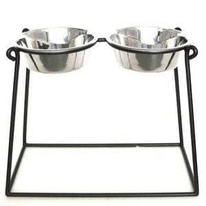 Pyramid Elevated Double Dog Feeder