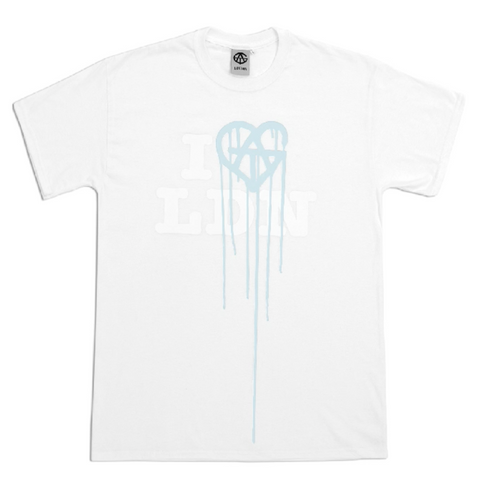 ATG White on White (Colour changed to Blue) T-Shirt