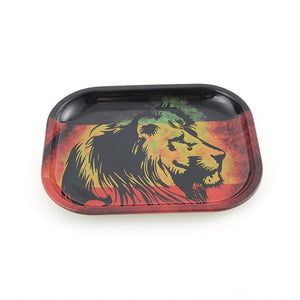 Ganja Lion Rolling Tray - 7 x 5.5 Inches (100 pc)