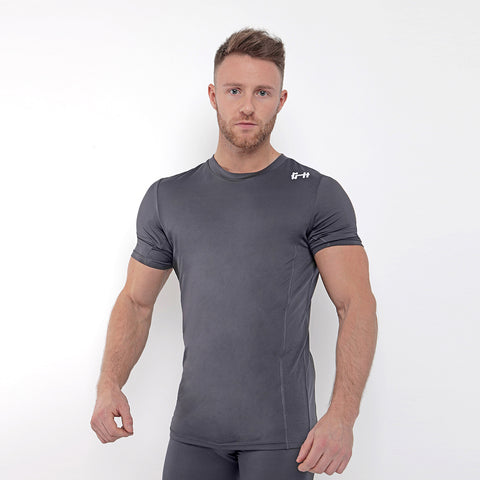Gymheadz Base Layer T-Shirt - Graphite