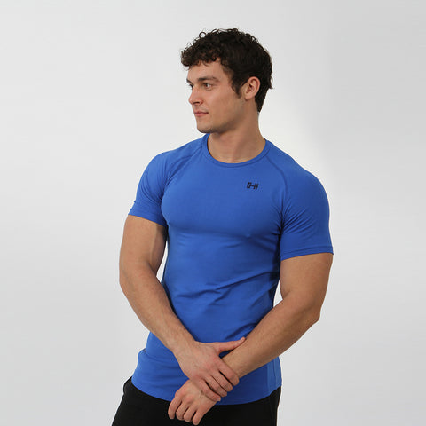 Gymheadz Original Stretch T-Shirt - Blue