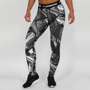 Gymheadz Impact Leggings - Black & White