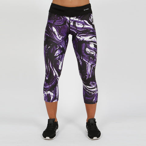 Gymheadz Impact Cropped Leggings - Purple