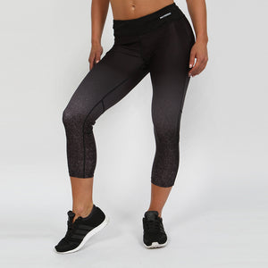 Gymheadz Infinity Cropped Leggings - Black