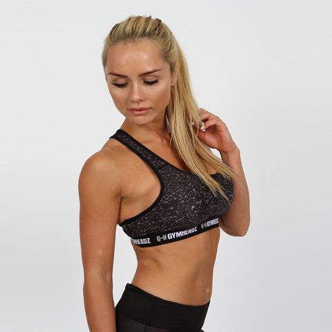 Gymheadz Infinity High Support Bra - Black