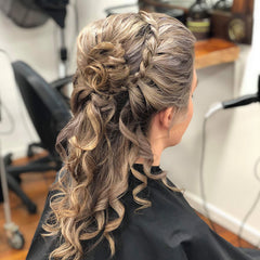 Ball Updo Hair Up Do, Curls, Silverbullet, GHD