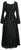 Medieval Vintage Corset Lace Two Tone Renaissance Dress Gown - Agan Traders, Black